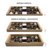 Suplemento bandeja mediana guarda colección minerales conchas numismática monedas